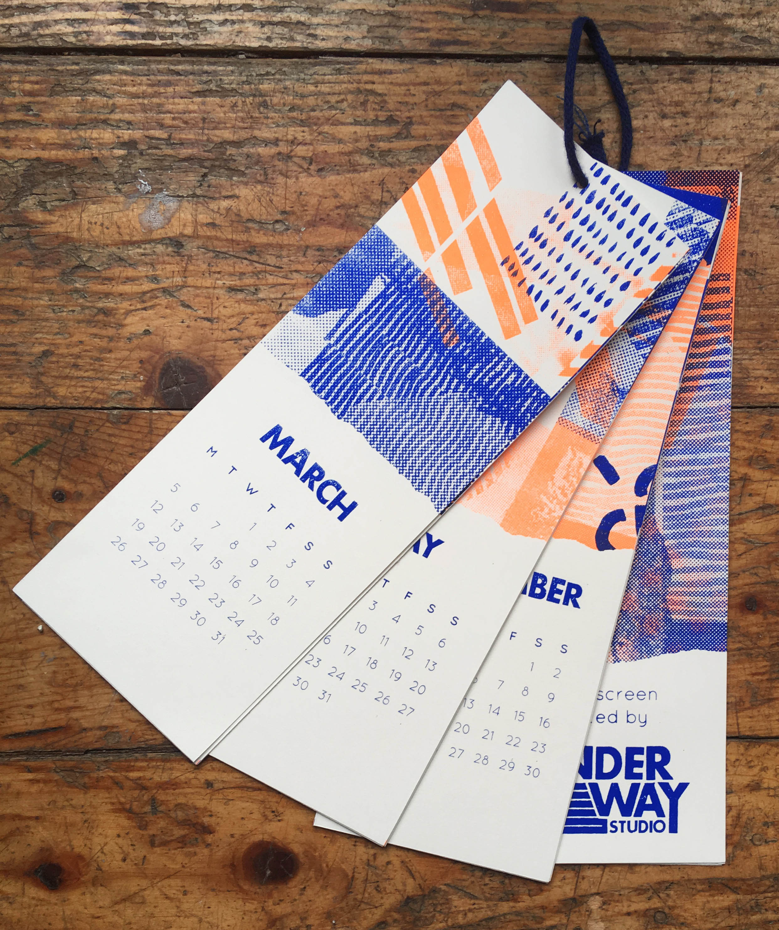 2018 Hand Printed Calendar