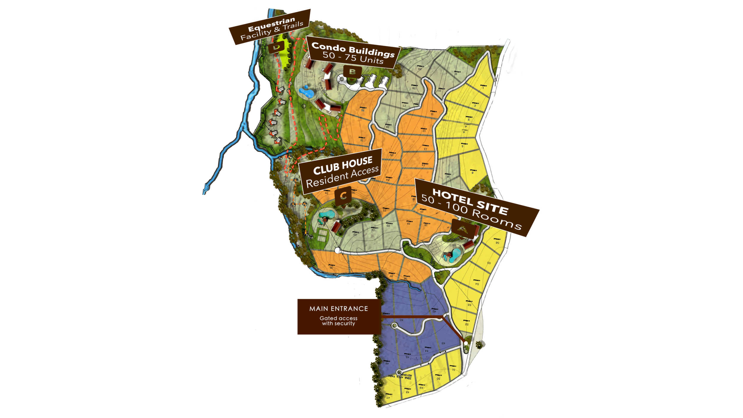 Master Site Plan Developed by Nagel Architects 2014
