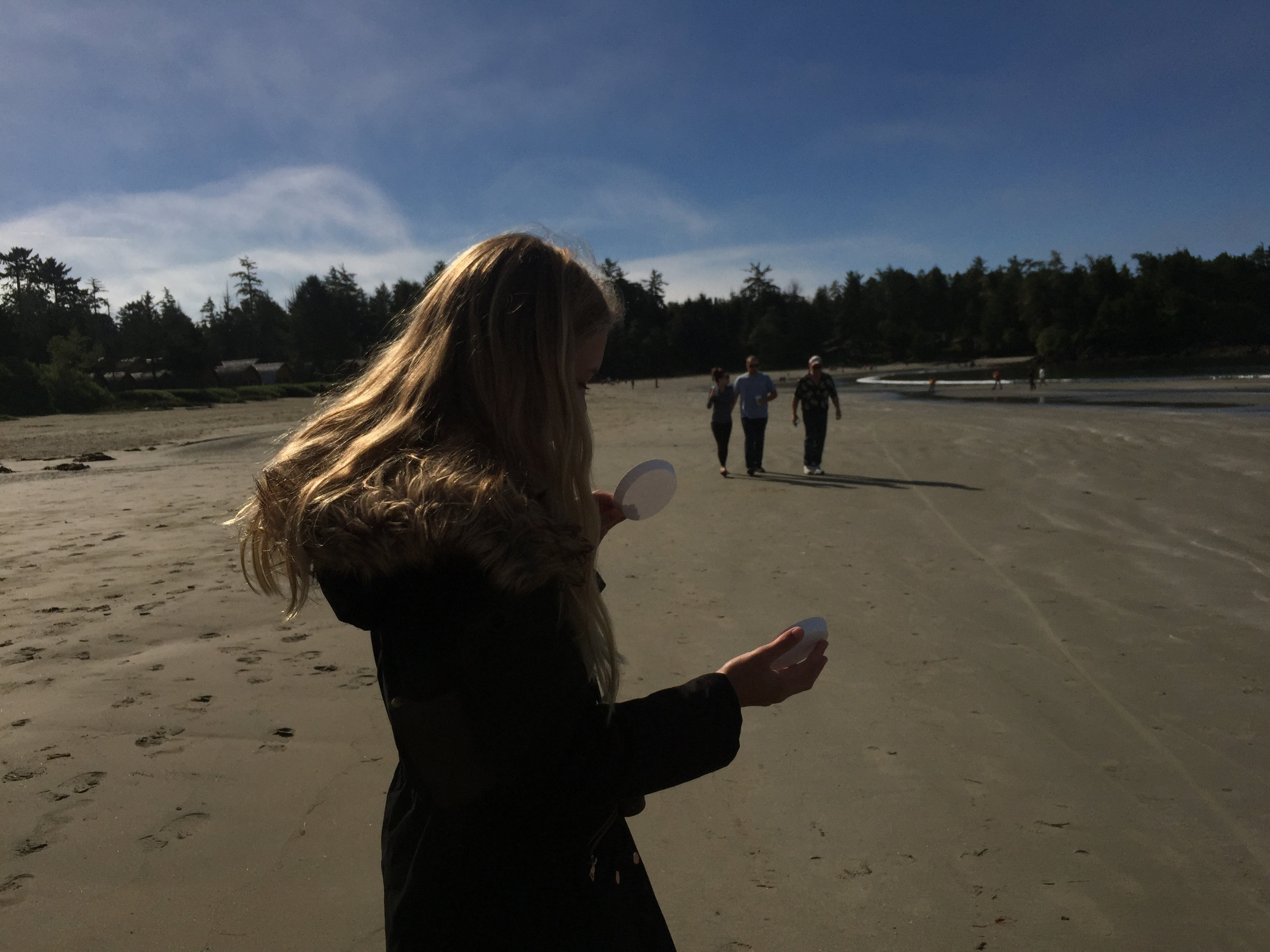 During the eclipse, Vancouver island 2017