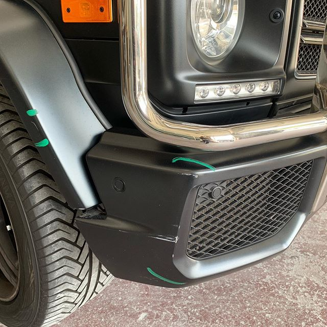 Another project done. One of our customers came in with a #matteclear #mercedesbenz #g63 scratched and scuffed across the body. After #ghautobodypaint did what it does best this beauty was back to its original state. #mercedes #gwagon #g63amg #amg #autobodyshop #collisionrepair #collisioncenter #ppgpaint #amgdesignstudio #ghautobodypaint