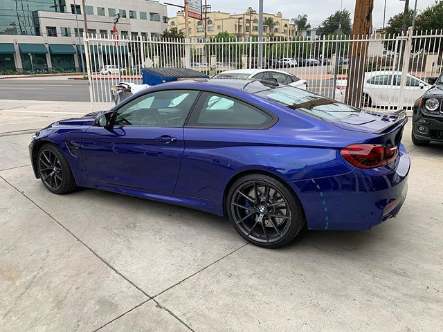 2019 BMW M4cs. Amazing car had dents and scratches on LT quarter panel and rear bumper. We repaired and refinished this beauty back to its original self. #bmw #m4cs #sanmorinoblue #autobodyshop #autobodyrepair #collisioncenter #ppgrefinish #ghautobodypaint