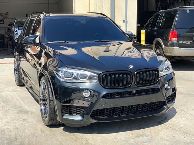 BMW X5 M. Customer had gravel chips front freeway construction Front bumper repair and refinish. Came out nice. #bmw #mpower #bmwx5 #collisionrepair #autobodyrepair #ppgrefinish #ppgwaterbase #ghautobodypaint