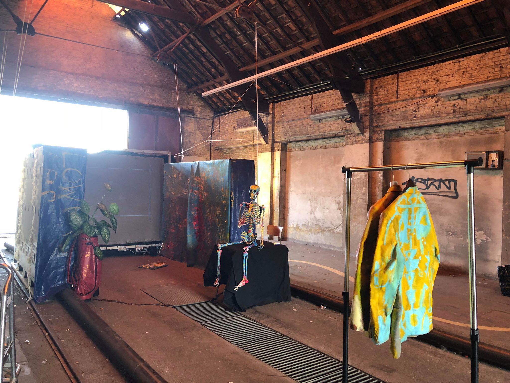 Stelplaats 2018, set up installation at build up