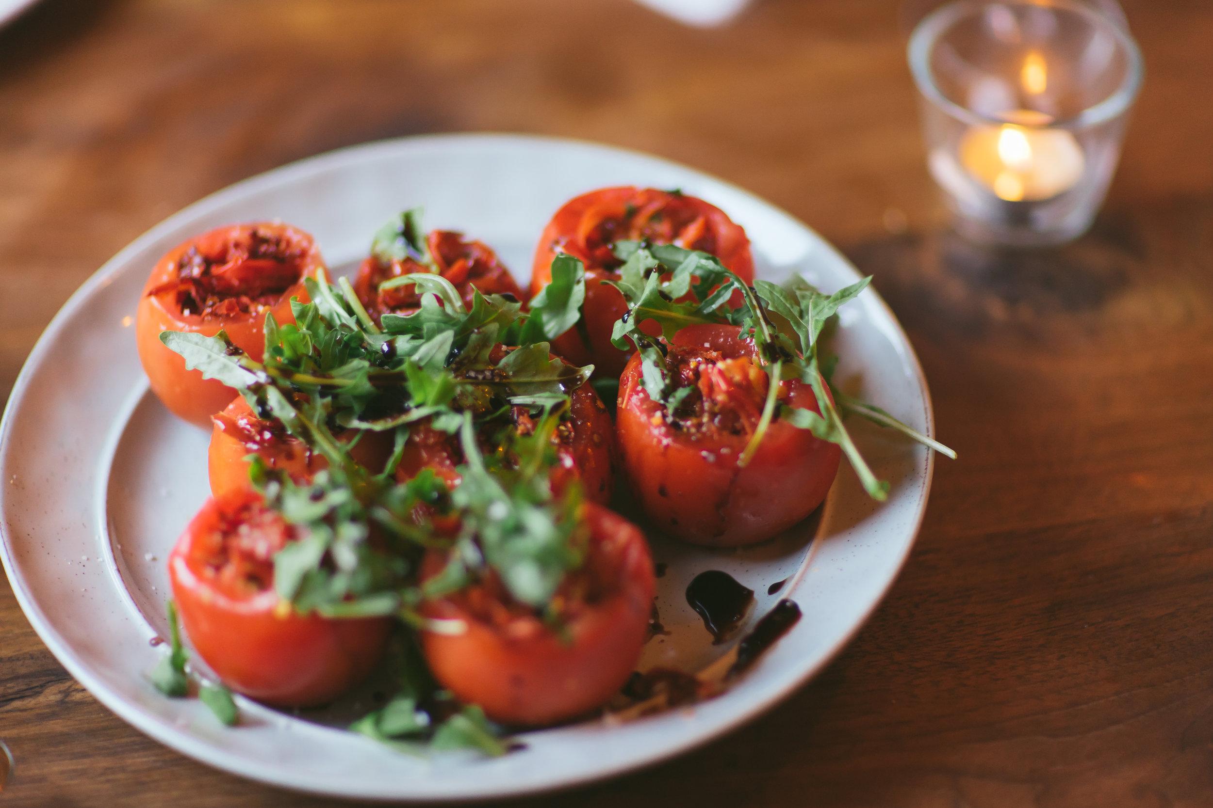 Tavernetta Calgary restaurant tomatoes