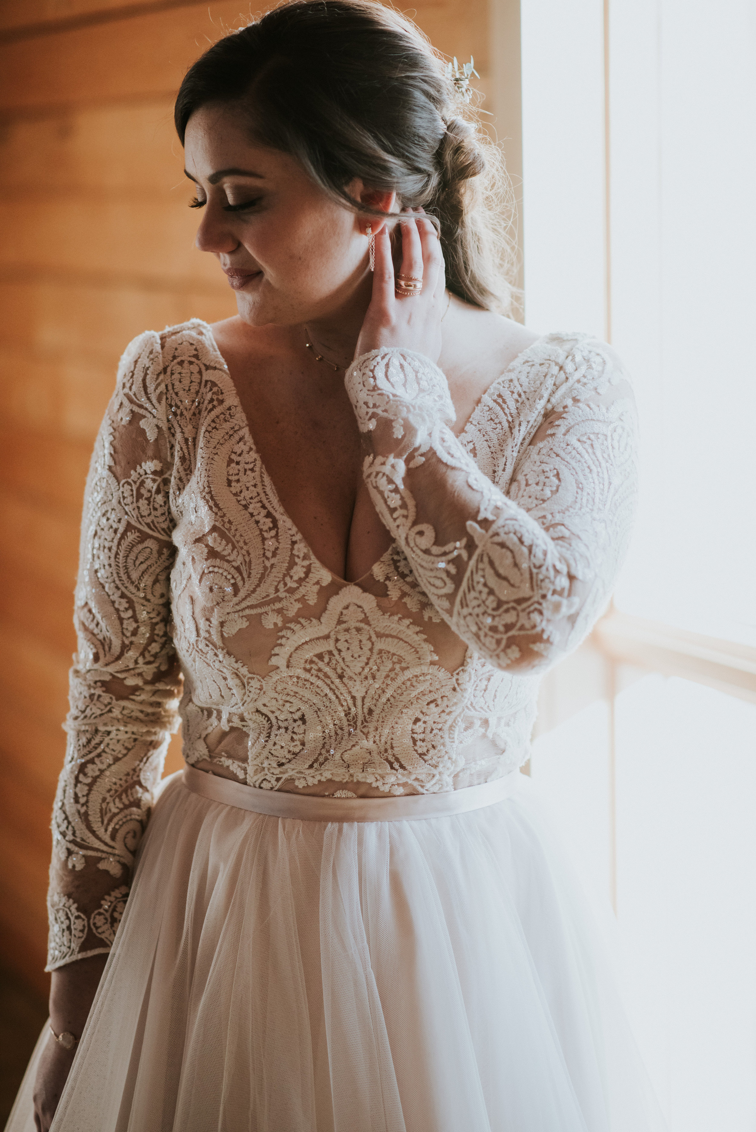 calgary bride gown lace top beauty
