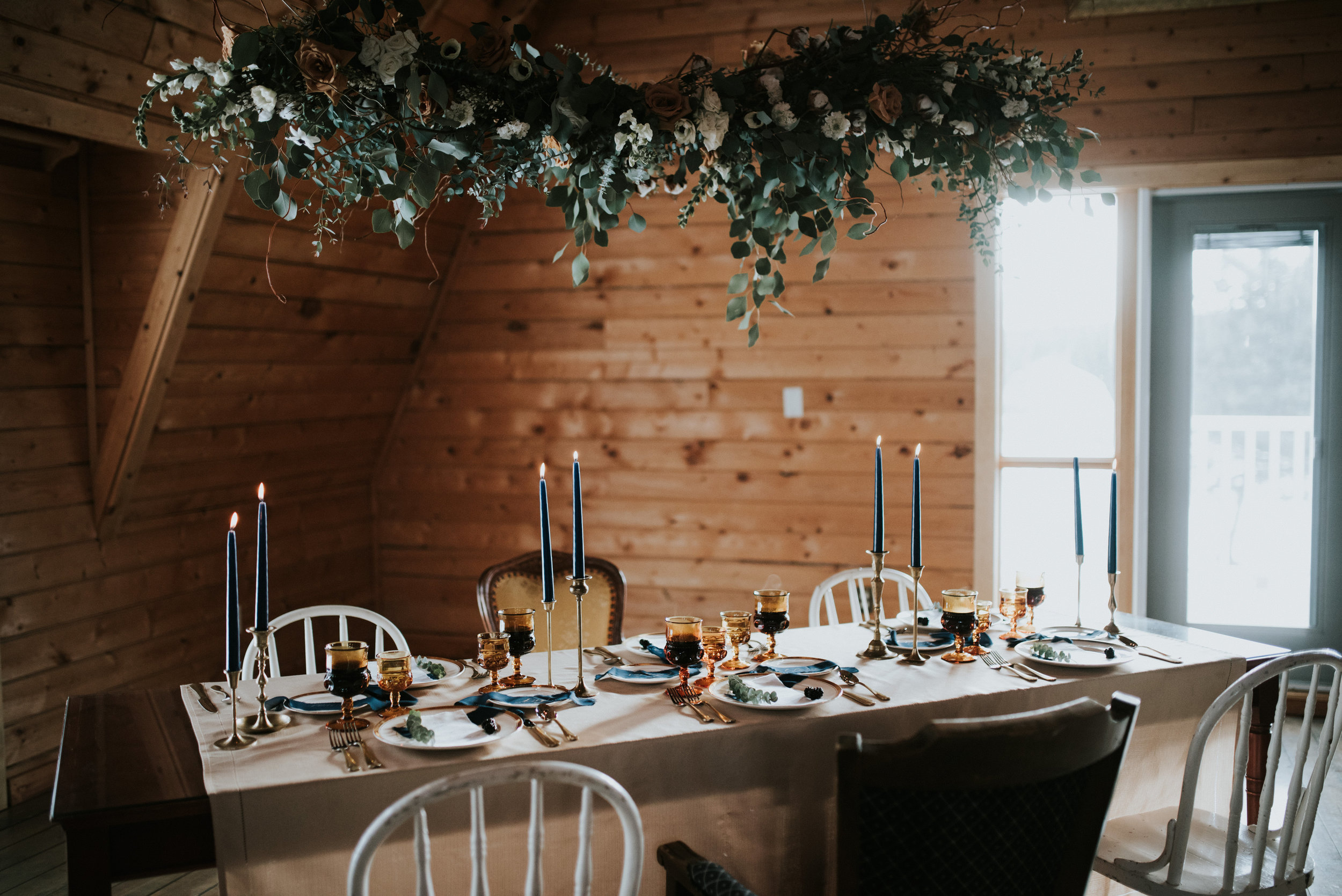 calgary wedding inspiration hanging floral arrangement