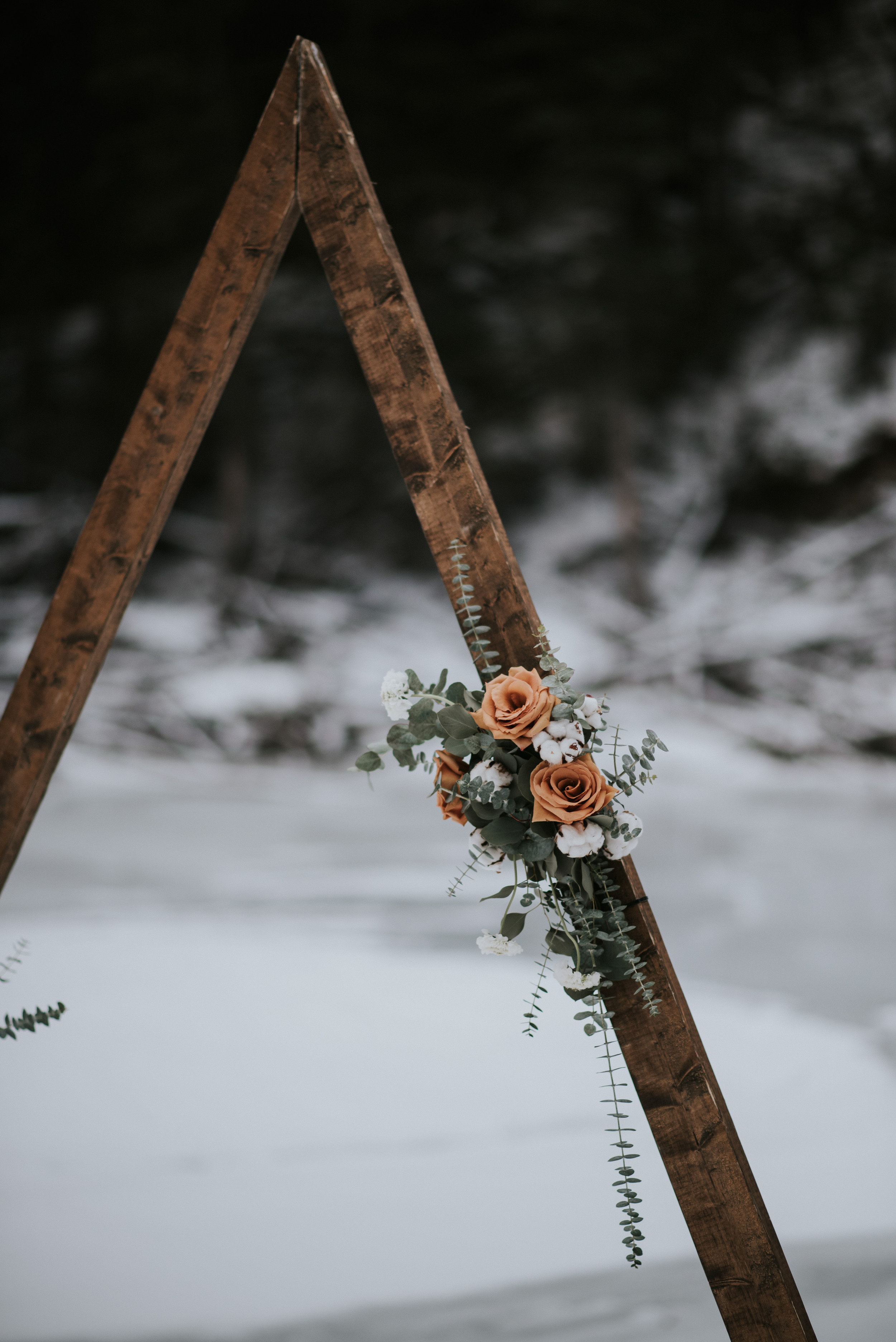 calgary wedding winter wedding inspiration archway ceremony