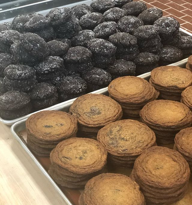 Close to 600 cookies were baked today with your weekend plans in mind. #rusticabakery #cookies #mplsbakery #bakedfreshdaily #memorialdayweekend