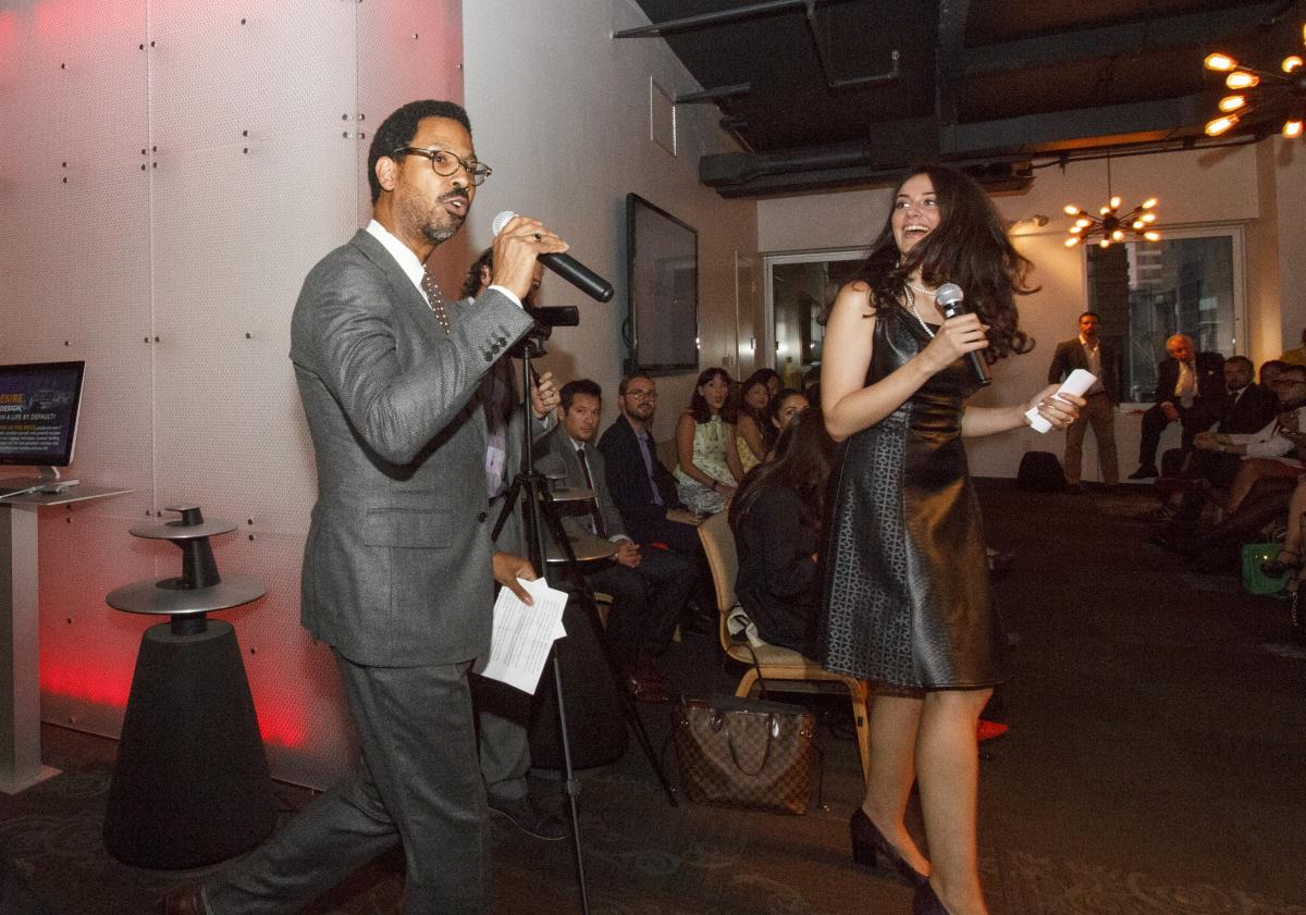 Reginald-Ferguson-and-Roxanne-Hauldren-KWNYC-agents-as-well-as-founders-of-NY-Fashion-Geek-and-Shop-with-Rox-warm-up-the-crowd-as-they-co-host-the-KW-Fashion-Event..jpg