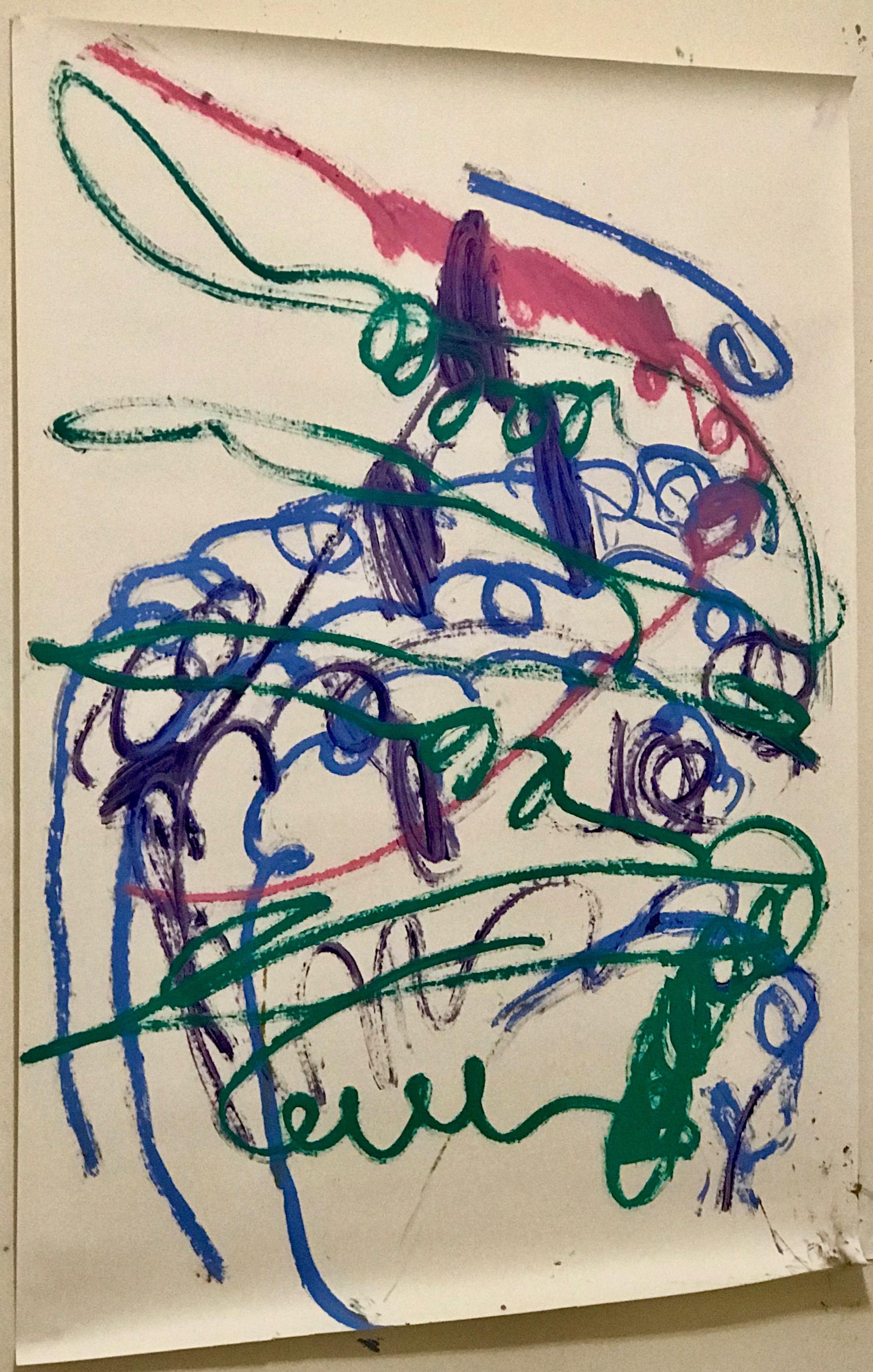 40 x 60  Oil stick on paper.