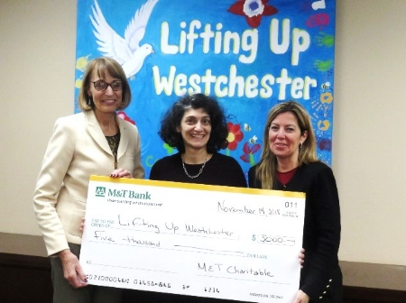 Photo - L to R: Chris Schwartz, Director of Development – Lifting Up Westchester, Anahaita Kotval, Executive Director – Lifting Up Westchester, Ana Paula Saraiva, Vice President – M & T Bank
