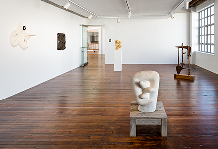 Photograph of the exhibition at the Noguchi Museum.
