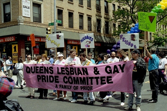 The First Annual Queens Pride Parade in 1993 (Photo: Courtesy Daniel Dromm Photograph Collection, LaGuardia and Wagner Archives, LAGCC, CUNY)