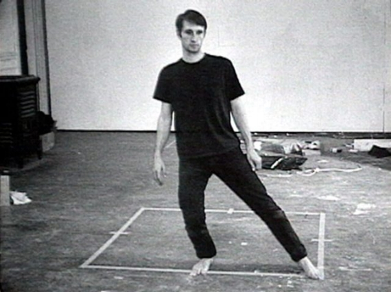 Bruce Nauman, Still from Dance or Exercise on the Perimeter of a Square (Square Dance), 1967-68 (Courtesy Electronic Arts Intermix (EAI), New York)