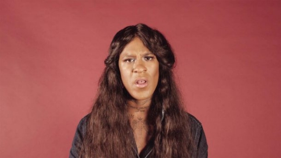 Mykki Blanco and Adinah Dancyger, I Want a Dyke For President, 2016. Video, Performed by Mykki Blanco, Directed by Adinah Dancyger, Text by Zoe Leonard (1992), Produced by Thomas Gorton for Dazed. Make Up by Raisa Flowers, Camera and Sound Assistance by Alice Plati. (Courtesy of the artists and Dazed)