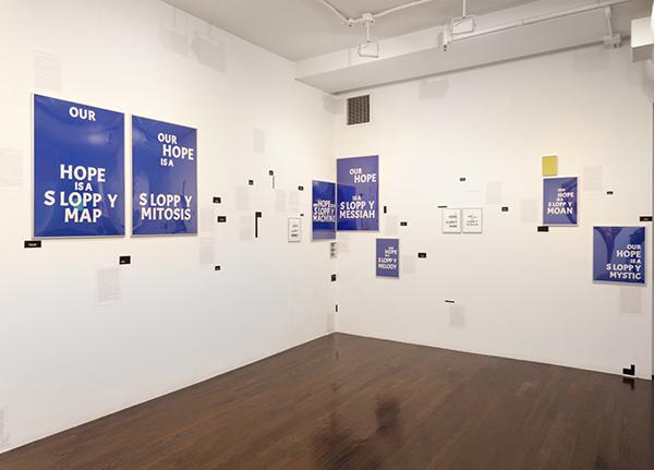 Kameelah Janan Rasheed,  A Rather Precarious Syntax , 2019. Installation view. Image courtesy the artist. Photo: Julia Gillard.