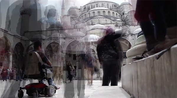 Still featuring Da Silva in front of the Grand Mosque, Istanbul, from his forthcoming documentary film  When They Walk.