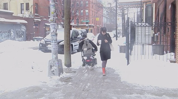 Still featuring Da Silva in New York City, from his forthcoming documentary film  When They Walk.