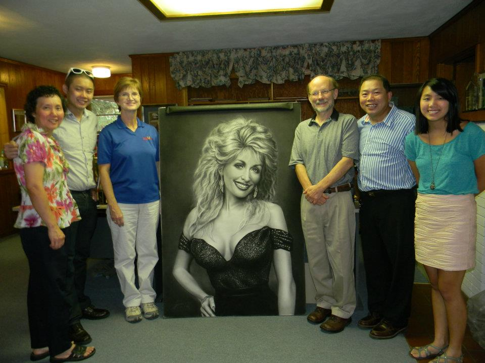 Donated this portrait to Dollywood in 2012