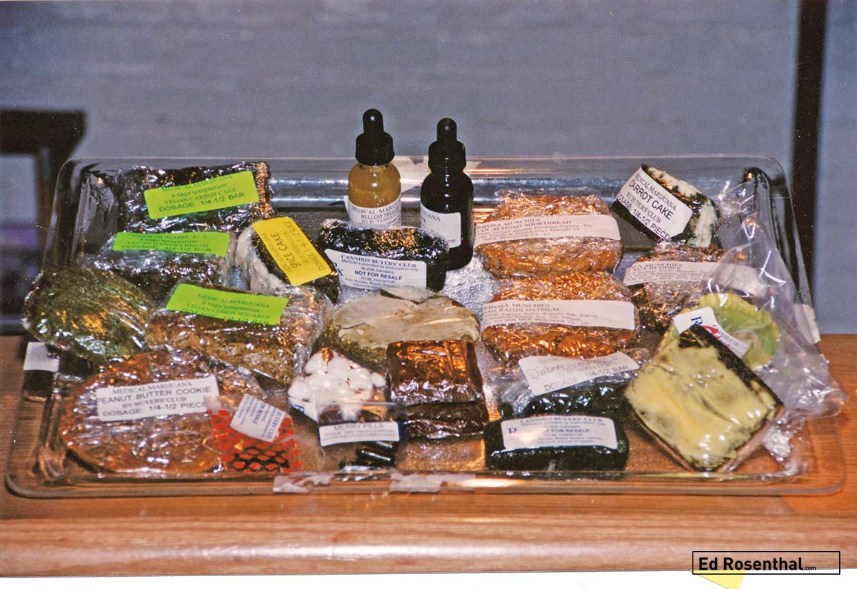 Edibles and tinctures were available at The Cannabis Buyers Club.