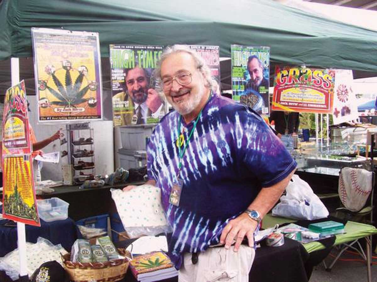 2008 Jack Herer showing of his hemp boxers - Picture by Austin King