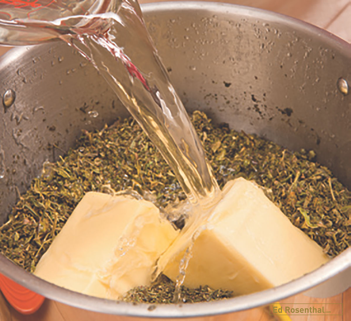 4)	 Marijuana mixed with butter and water in cooking pot