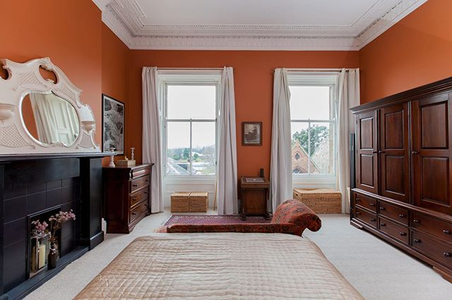 Here it is! Our bedroom in its full, earthy glory. It was a dreary beige before I got my hands on it, and though it won't be to everyone's taste, I went with this rich russet colour from @craigandrosepaints to inject some personality into it. • #mycolourfulinterior #scottishinteriors  #edinburghinteriors #igersedinburgh #lbloggersuk #ukbloggers #scottishbloggers #stylebloggers #edinburghbloggers #followyourtrend #mycolourfulinterior #styledupinterior  #hauteeclectic #storyofmyhome #slowandsimplestyle #aquietstyle #apartmentliving #myeverydaymagic #theperfectsimple #styleithappy #marieclairemaison #bedroomgoals #homeadore #incolourfulcompany