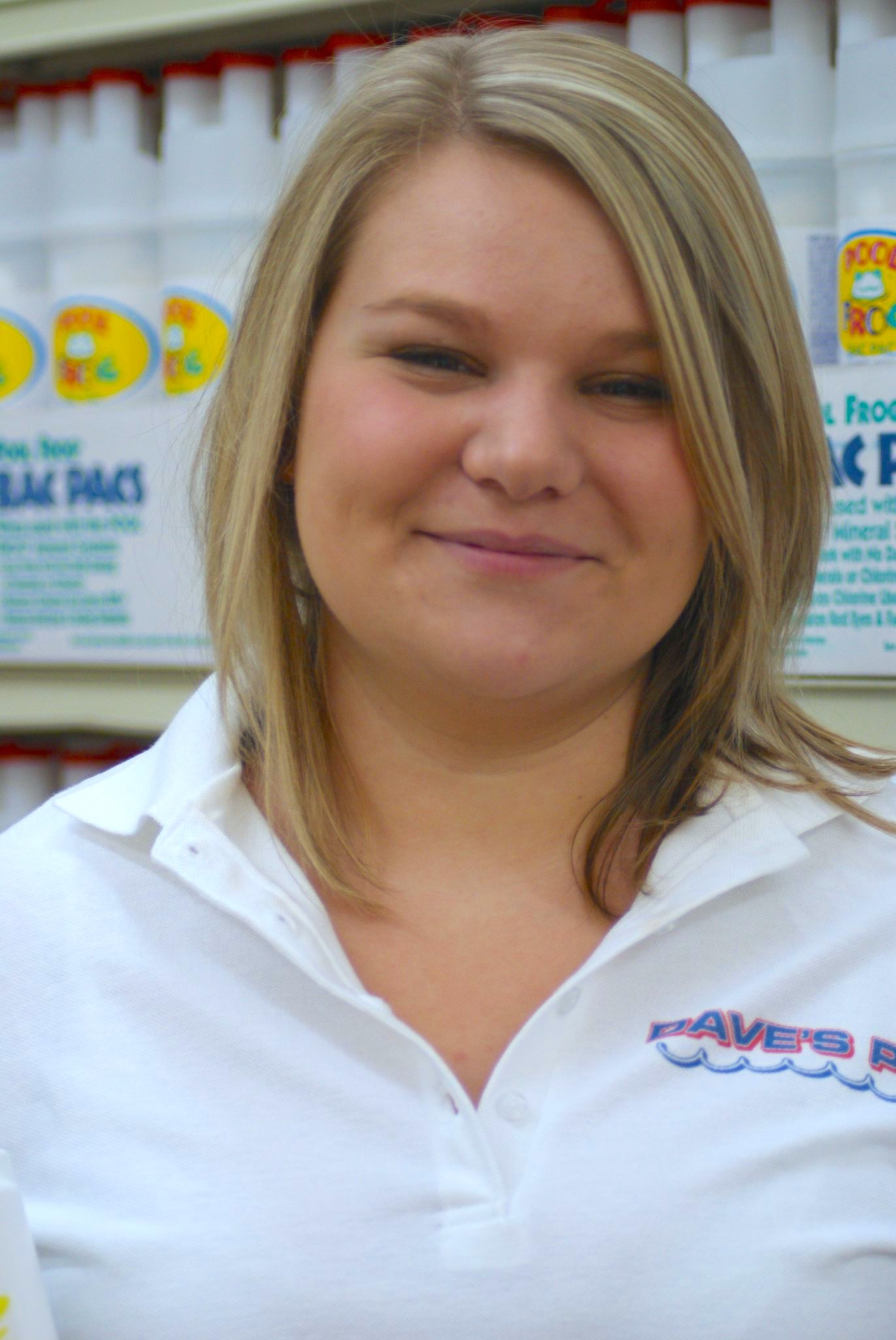 Samantha will greet you in the store!