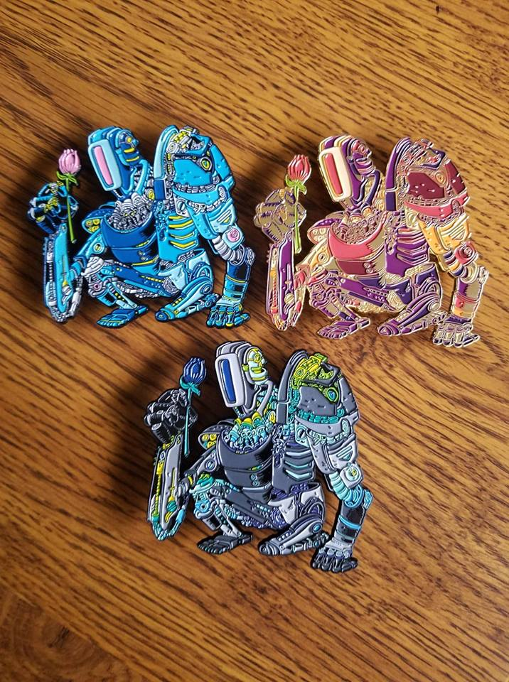 Gentle Giant - Enamel Pin set