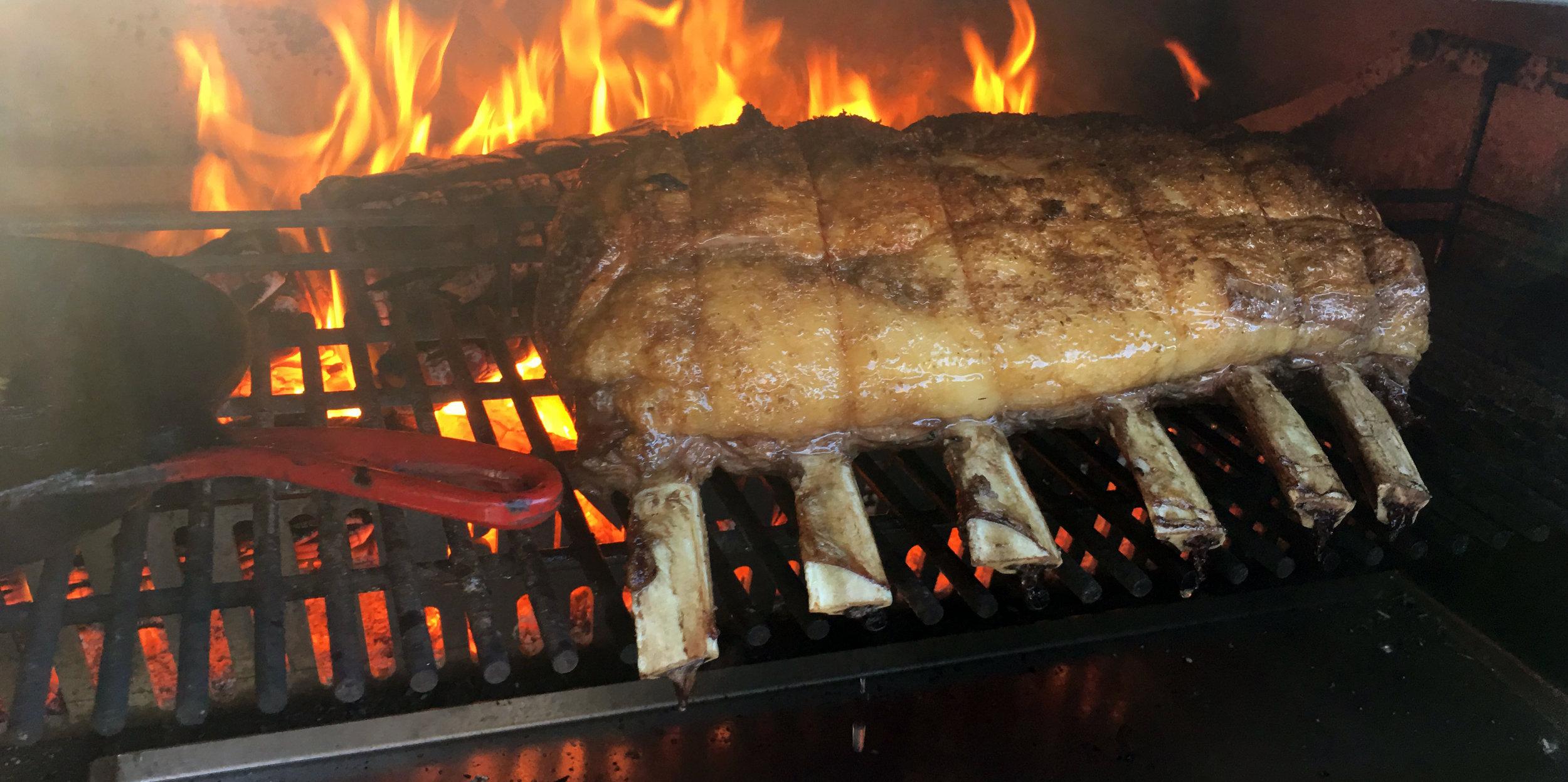 Beef on Van de Elzen Fire.JPG