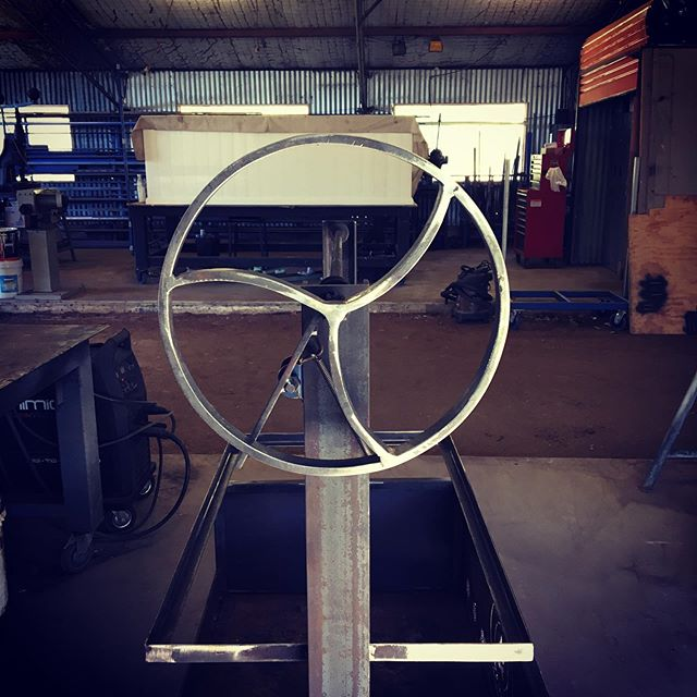 Another Grill on its way to a new home. This wheel was forged from 20x8 flat bar.  @davefrid8 @jessiefrid