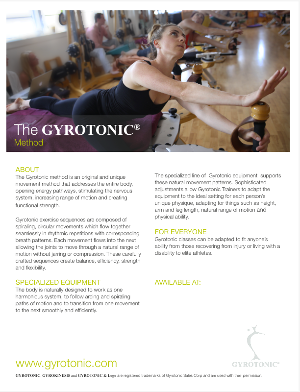 - Come work with me at Village GYROTONIC® in NYC!Email me at movewithjam@gmail.com to schedule a private GYROTONIC® session.GYROTONIC® Classes:Fridays at 7pm, Saturdays at 2pm & 3pm atVillage GYROTONIC®I am a Certified GYROTONIC® Trainer: Level 1 Tower, Jumping-Stretching Board, GYROTONIC® for Dancers