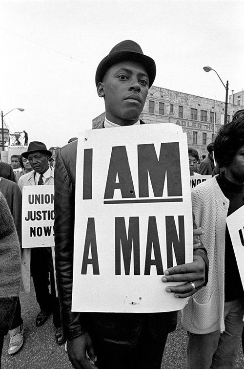 I Am A Man Civil Rights Protest, Memphis, TN 1960s VIA.jpg
