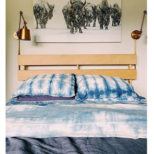 Sweet dreams in ocean blue ❤ Love this dreamy bed linen makeover @taylorhnewman diyed with our kit 👌👏