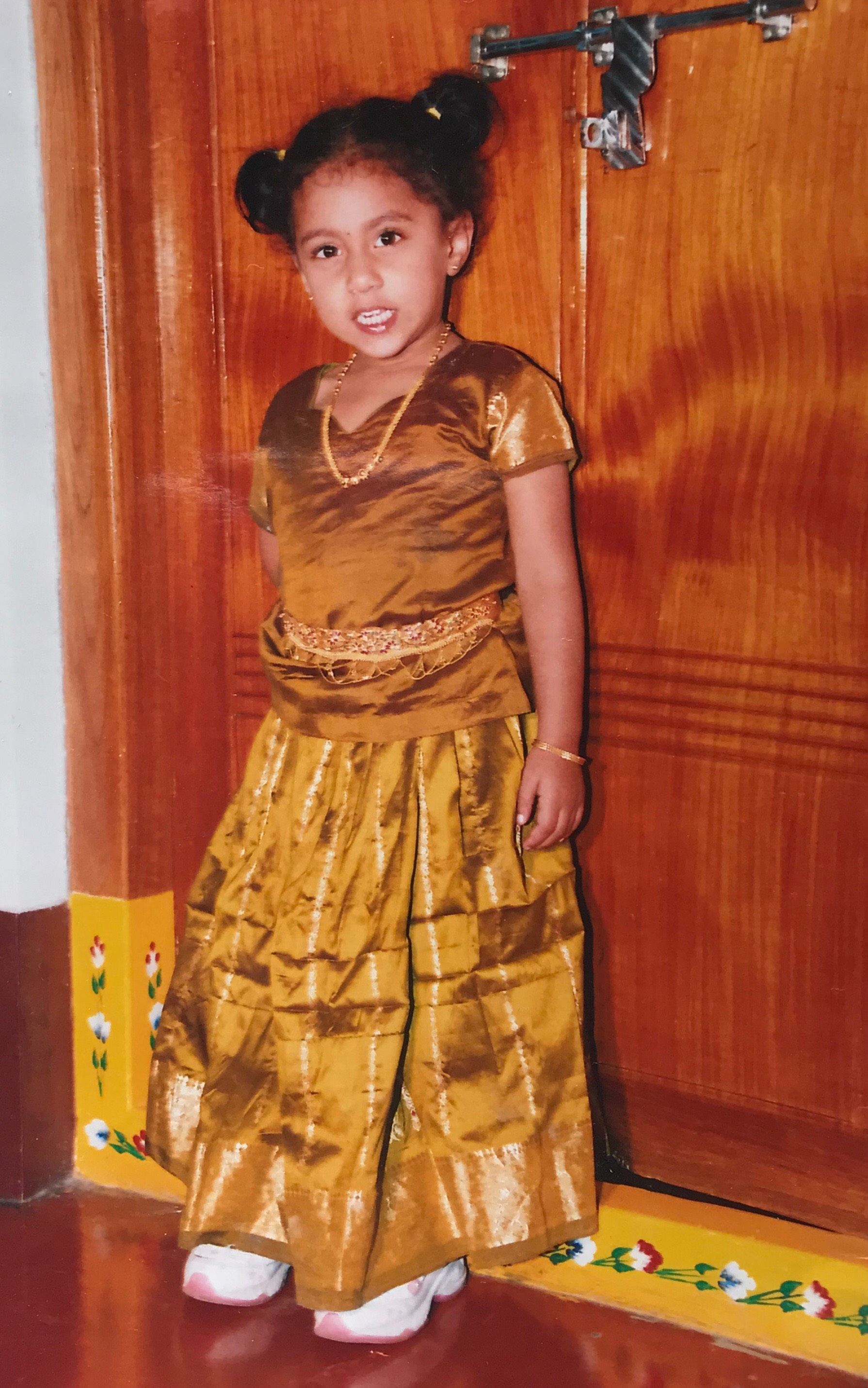 REPRESENT co-founder Ramya as a child.