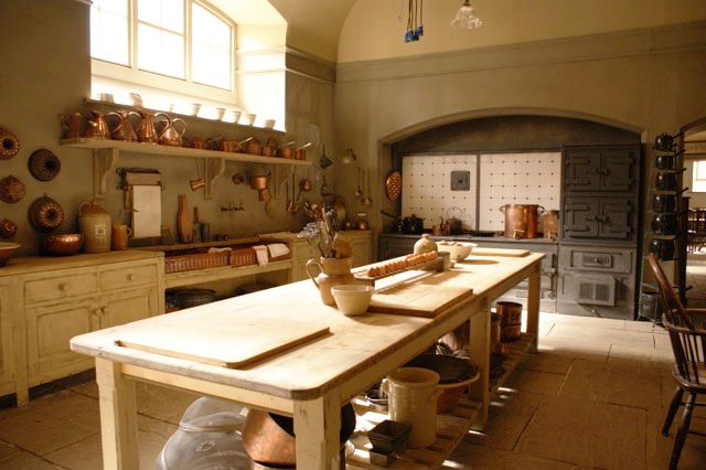 Image of Downton Abby kitchen via  housebeautiful.com