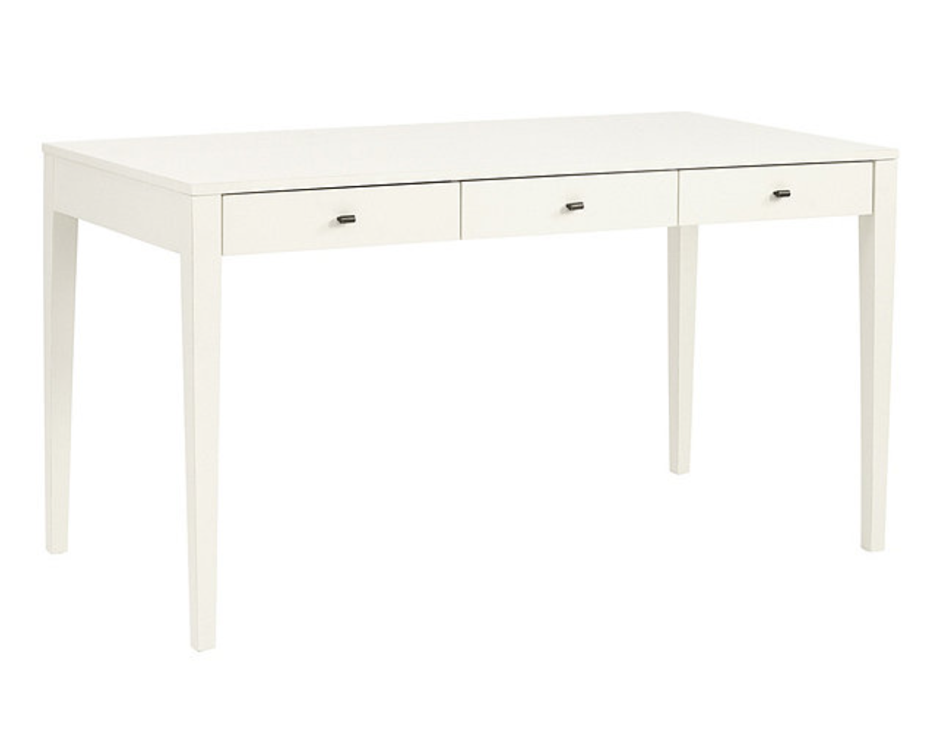 The  Stella Desk  from Ballard Designs offers a generous work surface with sophisticated clean lines