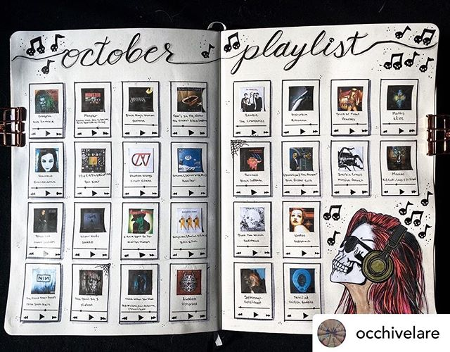 Oooo that cover pops! Thank you to @occhivelare for putting Phantom Wrongs together with all these other great songs for the BuJo October playlist! 👻 🎶