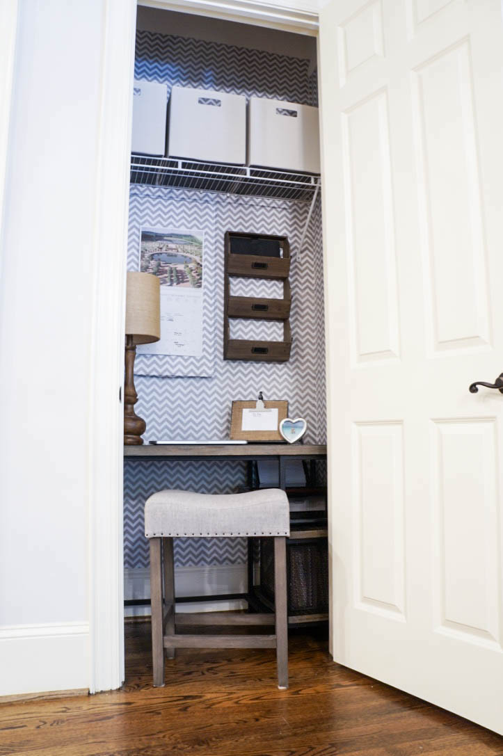 Office Closet Transformation Sara Lynn Brennan | All Things Home