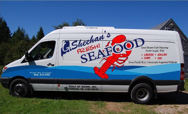 Sheehan's Seafood truck, Pembroke, ME.