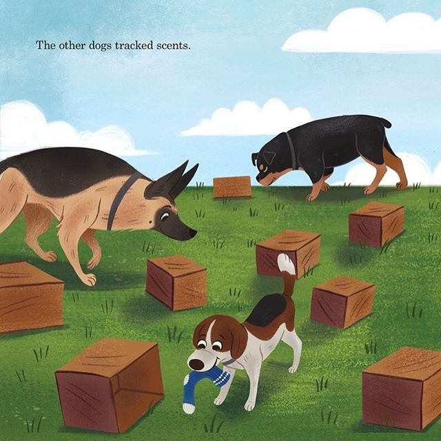 """Here's a Scene I loved illustrating from Very Lulu. Swipe to see more of  the picture. Lulu can be mischievous at times but she doesn't means too. She just very Lulu. Have you ever caught your pets trying to eat odds things? We also another good review from NY Journal of Books! Here's a snippet of it-""""The book is a winner. Lulu is a charming protagonist, and the happy ending will have readers (and those read to) smiling. The fact that it's a (mostly) true story is just icing on the cake."""" @stephcampisi @sourcebookskids @lemonadeillustrationagency . . #illustration #illustratedart #drawing #artofinstagram #childrensbooks #childrensillustrator #childrensillustration #digitalpainting #digitalart"""