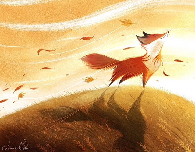 Hope everyone having a lovely day. Just waiting for Fall is just and weather is just now starting to get a little cooler. 🍁🍂 #illustration #artwork #artofinstagram #childrensillustration #drawing #digitalart #autumn #fall #fox