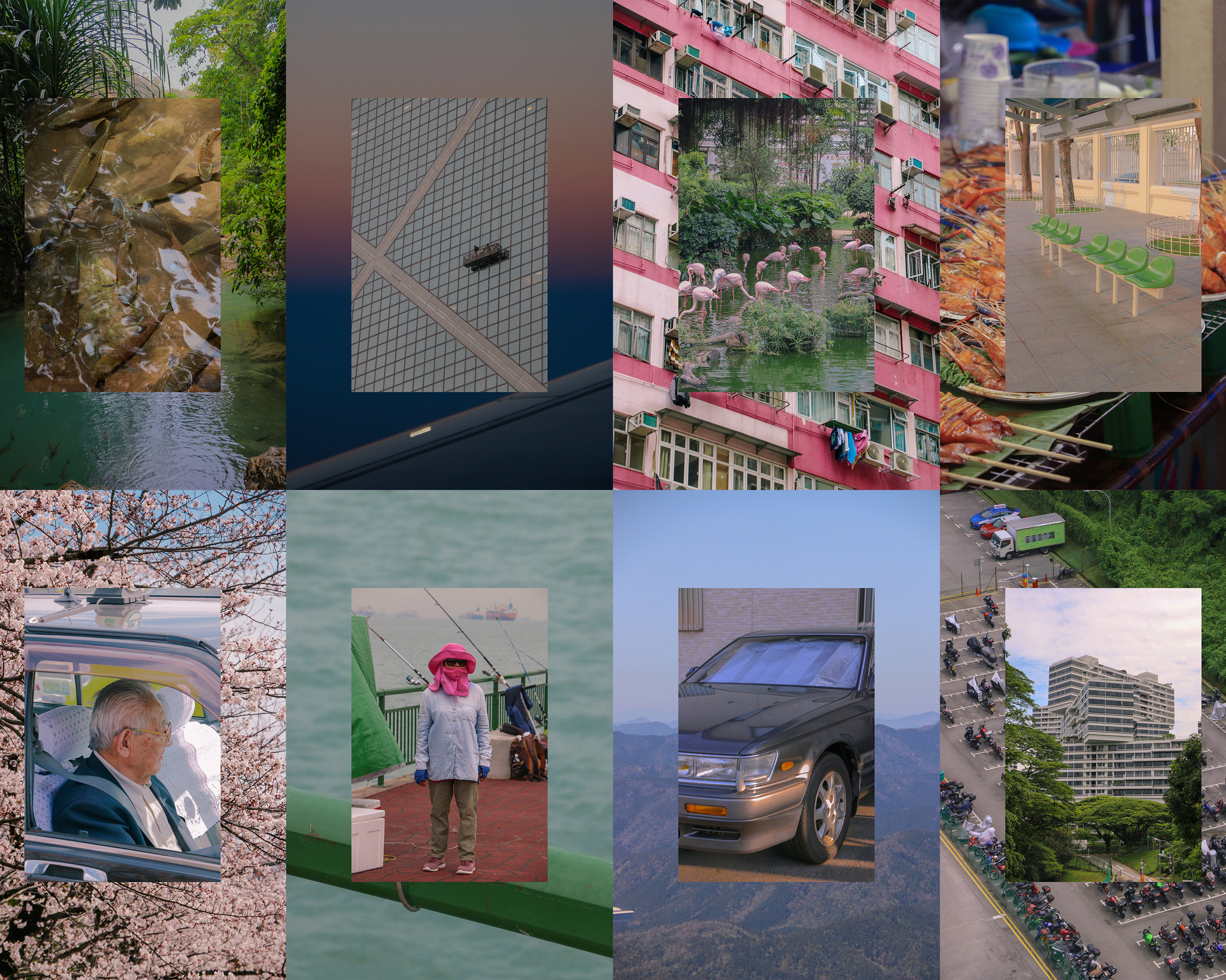 Abroad Collage - A series of images shot in Japan, Thailand, Hong Kong, and Singapore. 2019.