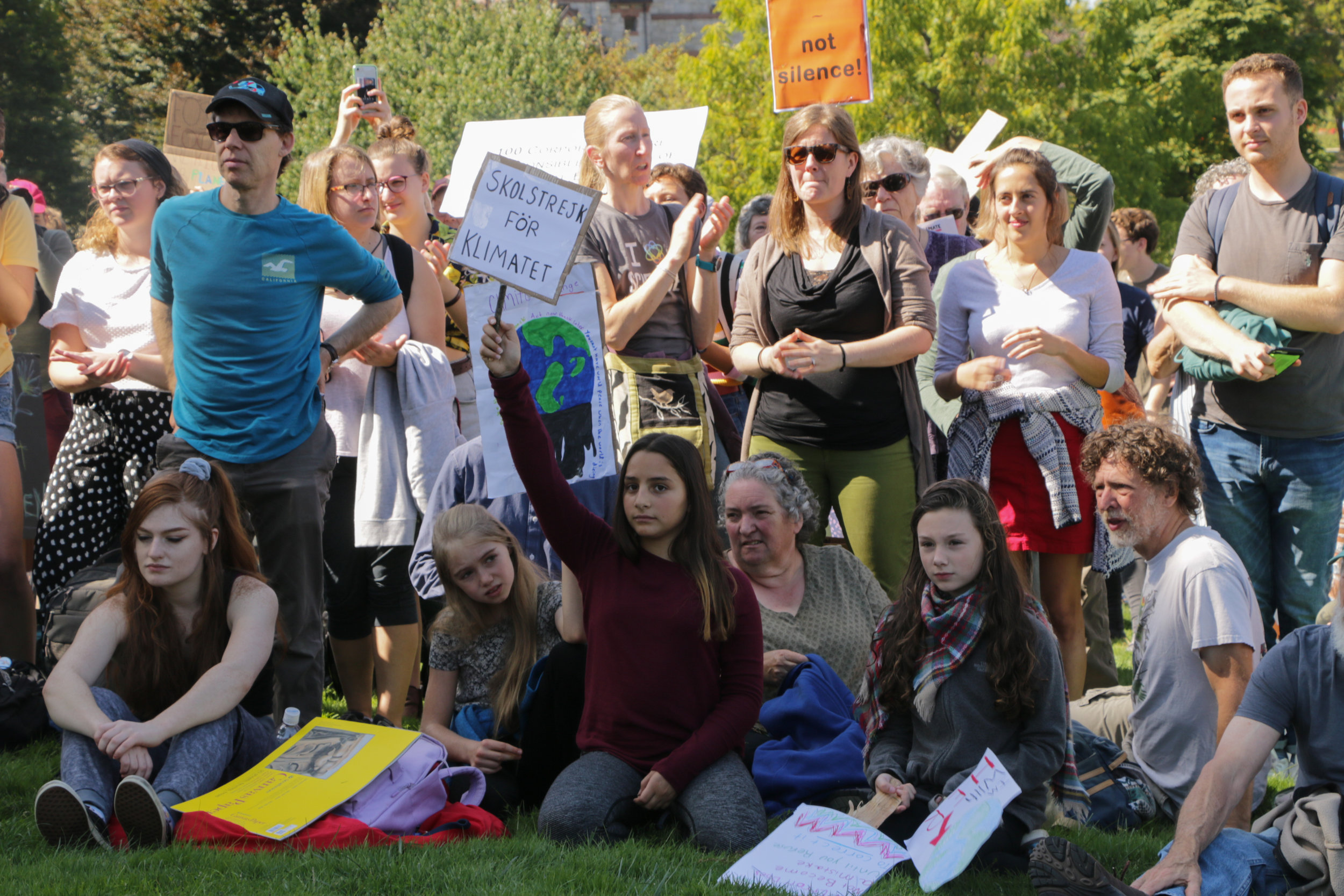 Climate Strike 2019 - On September 20, students, college faculty, and local citizens gathered with Extinction Rebellion and Sunrise Movement at the University of Massachusetts Amherst campus as part of a global climate strike.Photos from this gallery were published in a slide show by The Amherst Wire. click here to view.