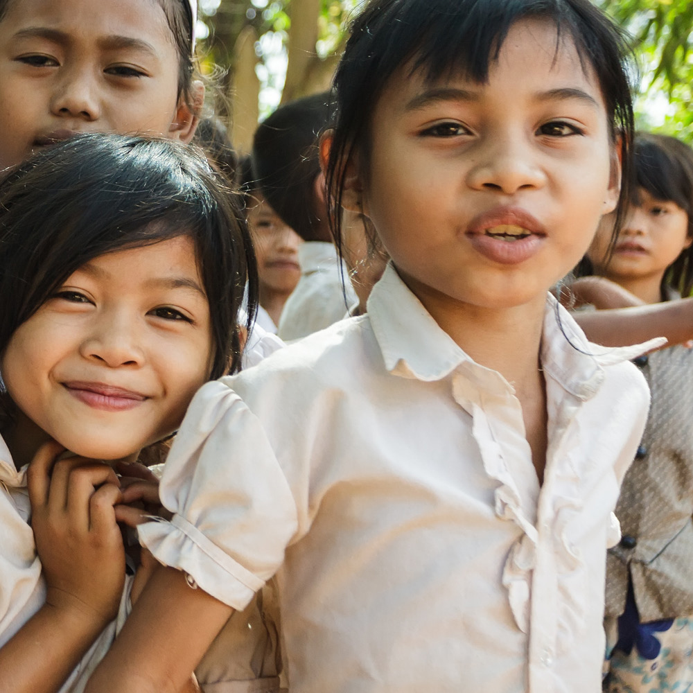 Artsmarketing Services works with social services, non-profit charities and environmental organizations to build a case for support that has raised over a billion dollars in revenue since 1982. Image of girls in Asia who have benefited from fundraising.