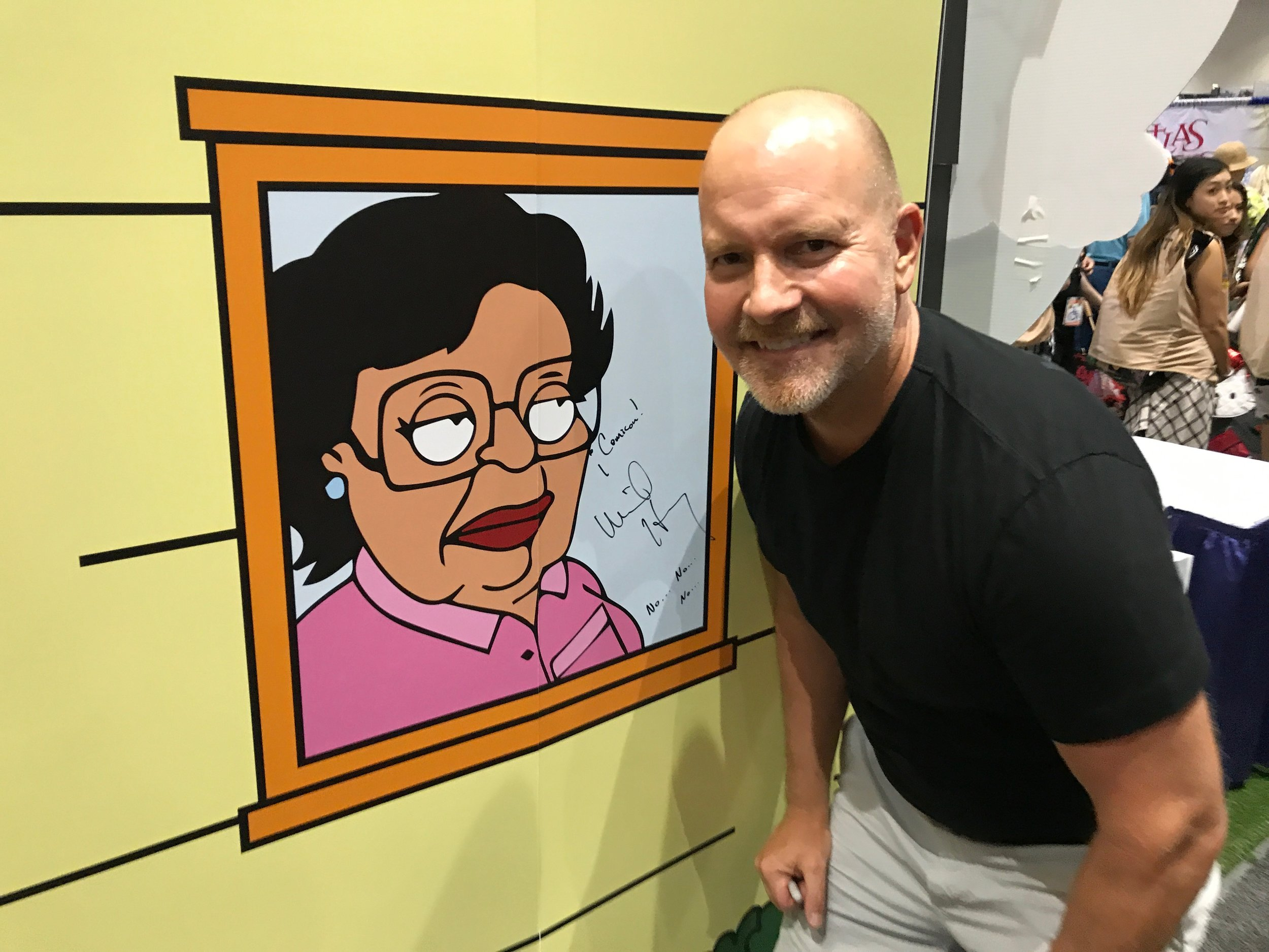 Mike Henry and his character Consuela at Comic-Con!