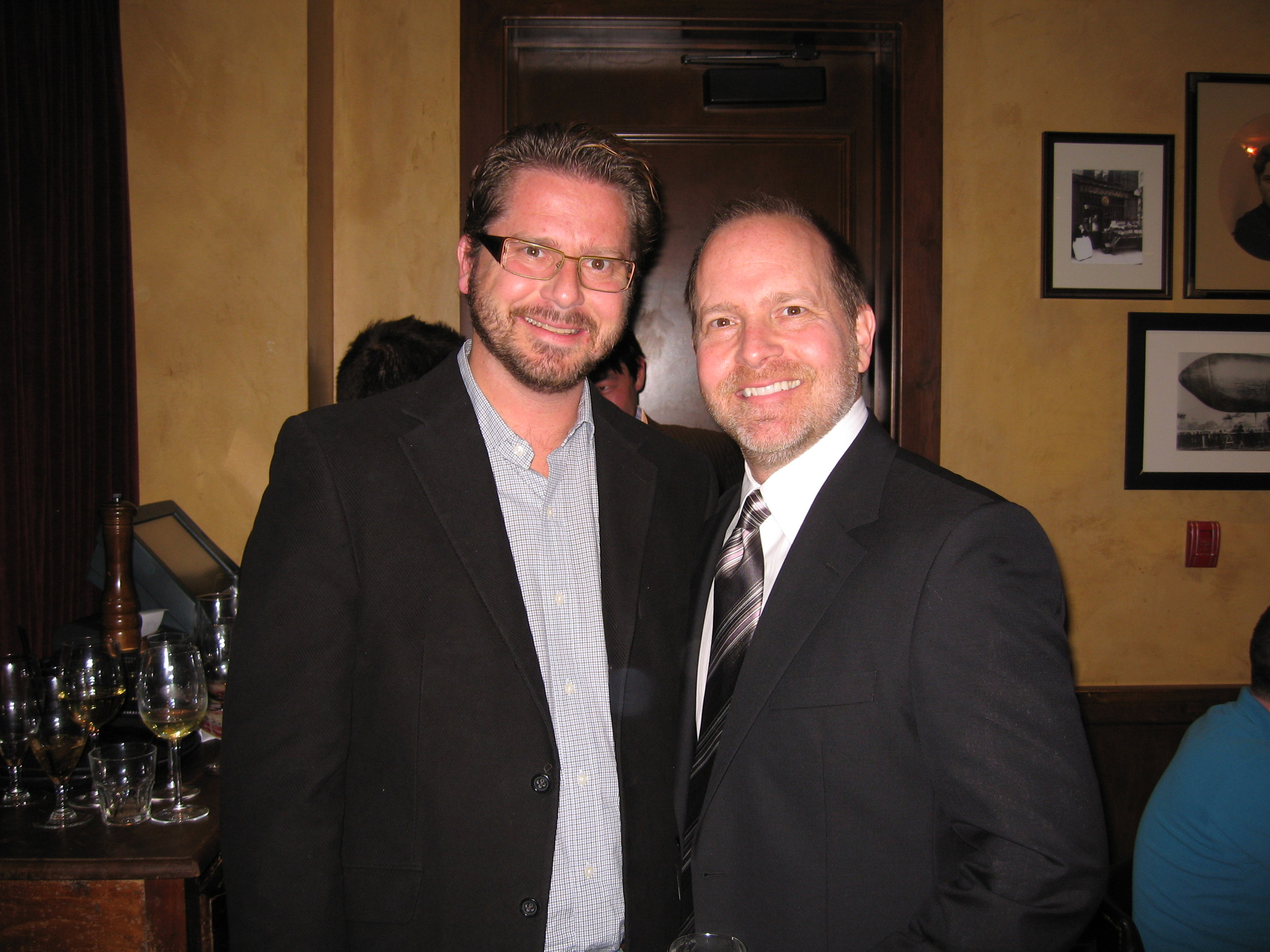 Mike and Patrick Henry at  The Cleveland Show premier.
