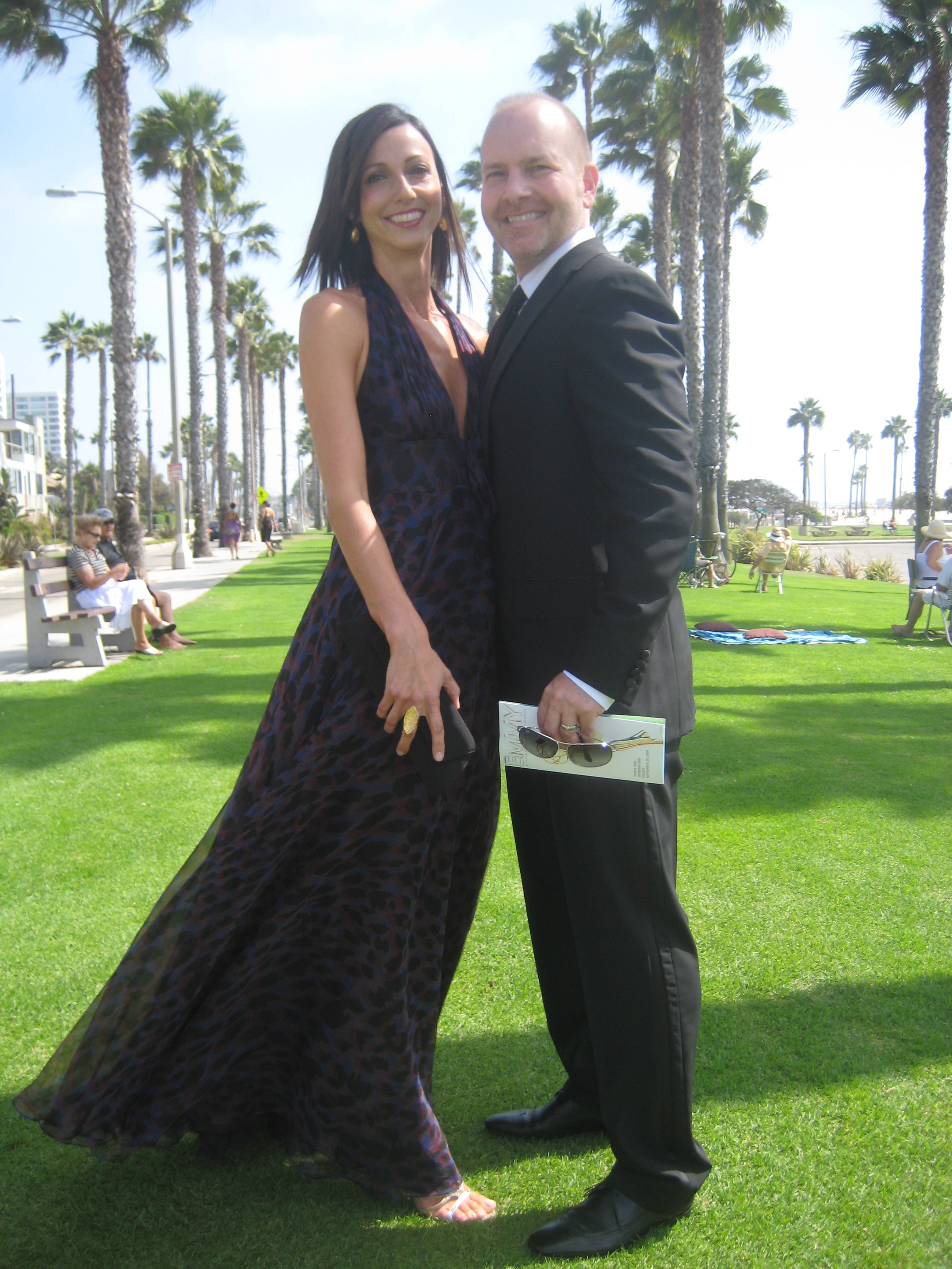 Mike and Sara Henry on the way to the Emmy Awards.