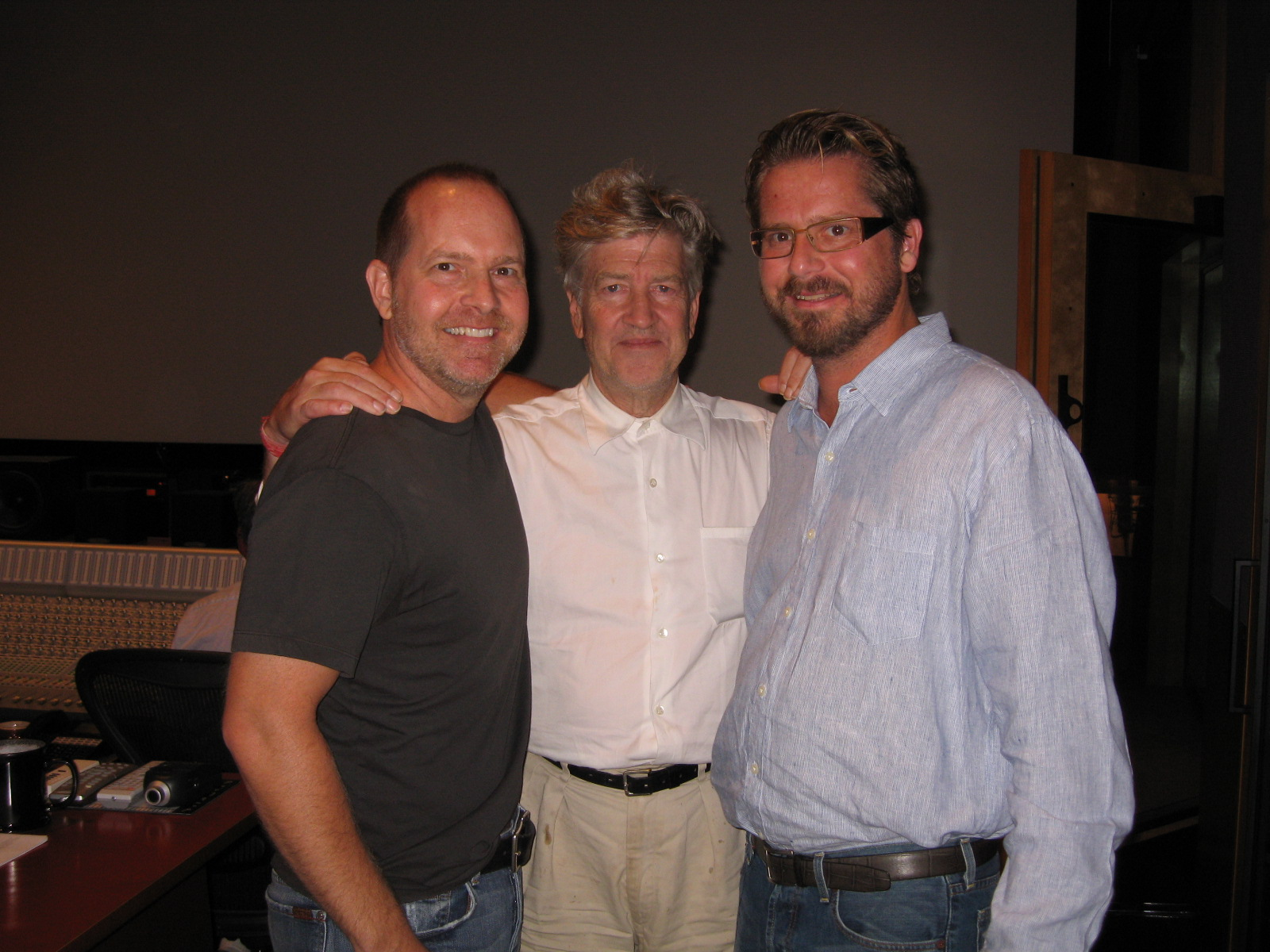 Mike and Patrick Henry with David Lynch.