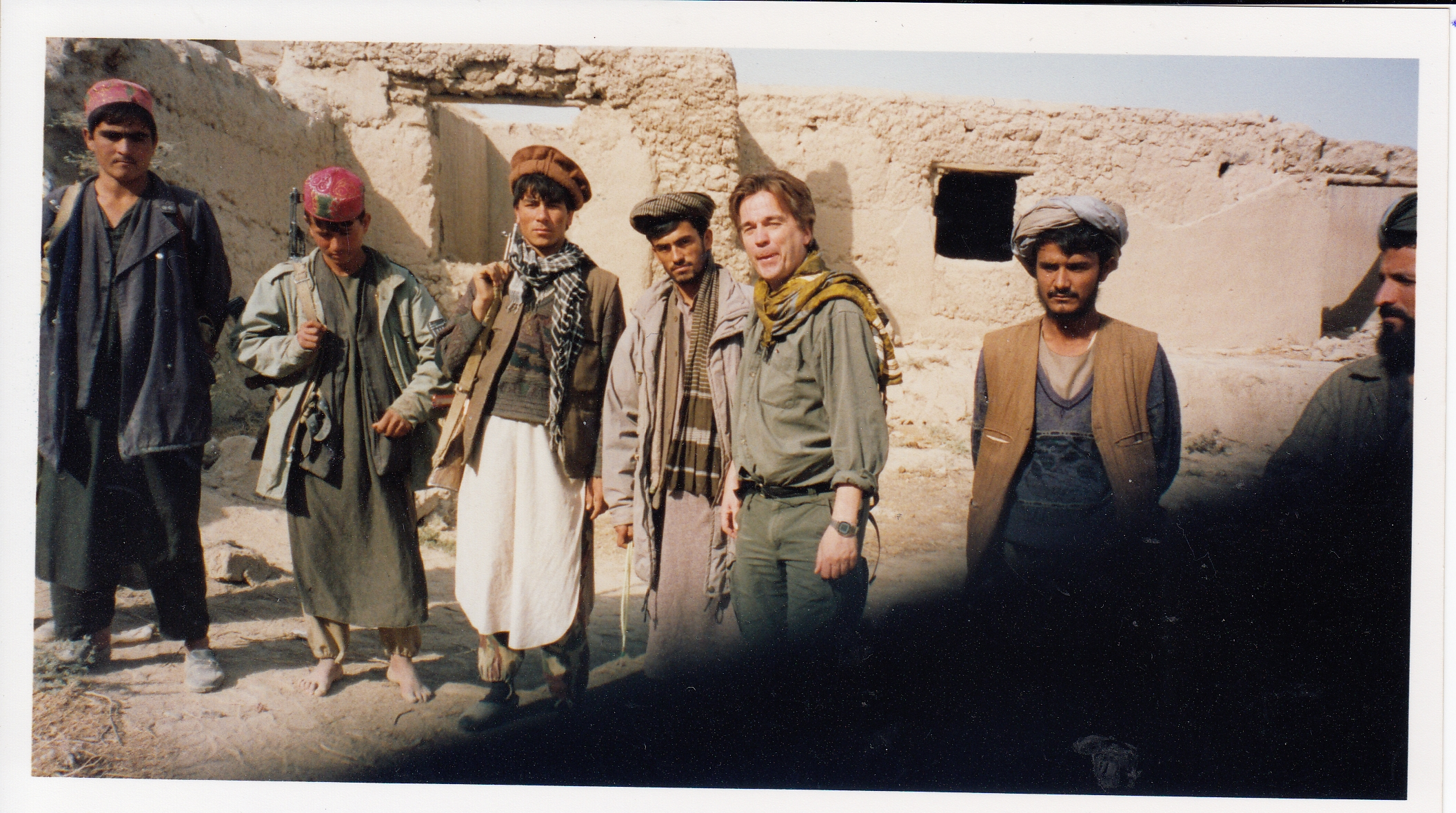 Ian with Mujahadin Guerillas in Afghanistan one month after 9.11